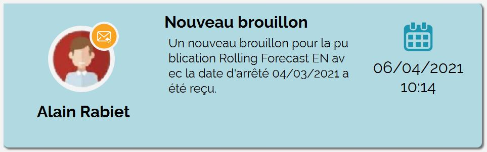Notification de brouillon